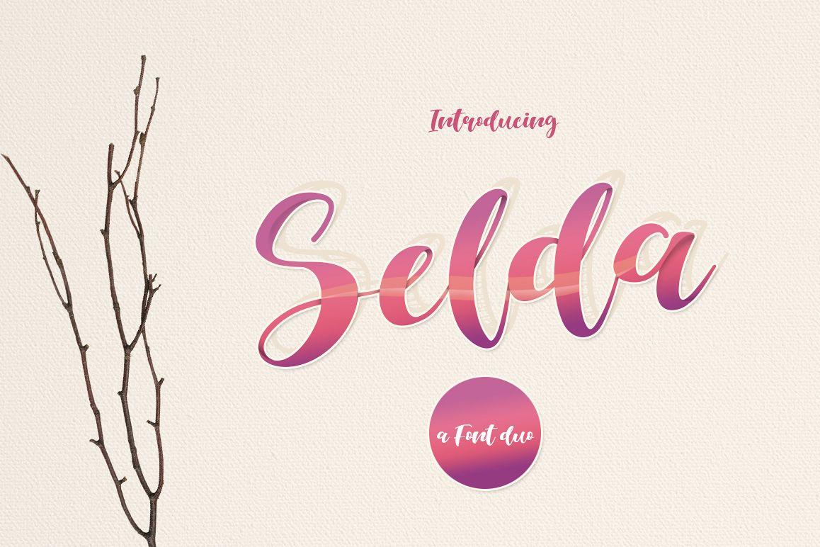 Selda Script Font Duo example image 1