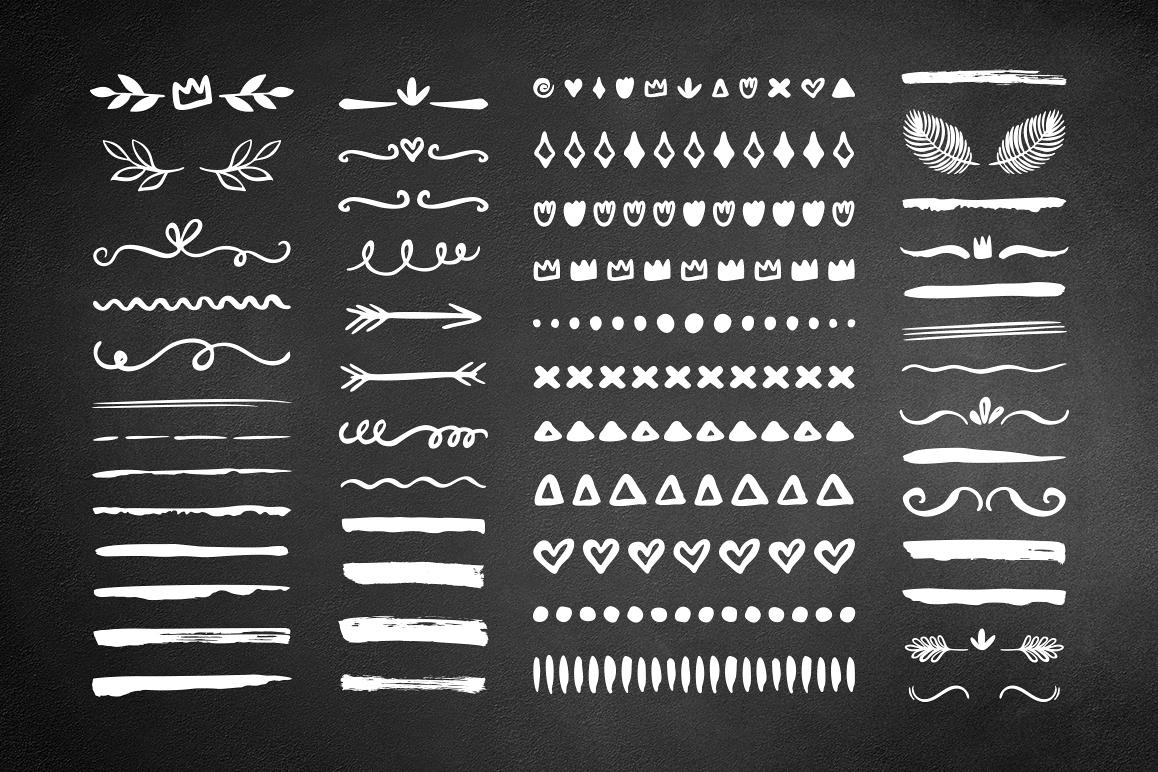 50 Hand drawn borders dividers set example image 1