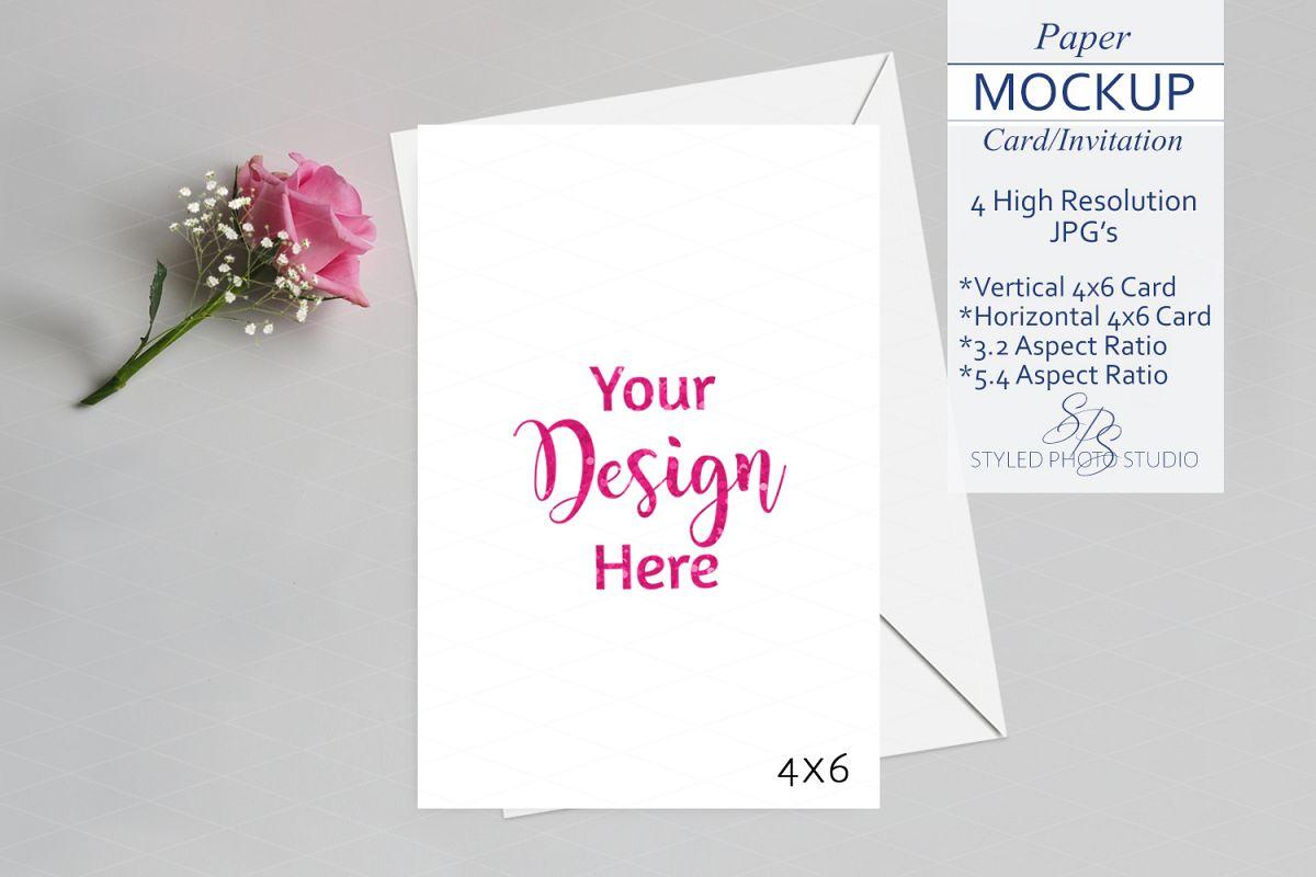 Valentine Card Mockup Invitation Mockup 4x6 3 2 5 4 Aspect