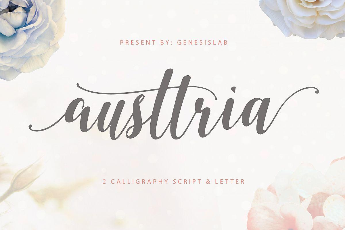 Austtria Script & Letter  example image 1
