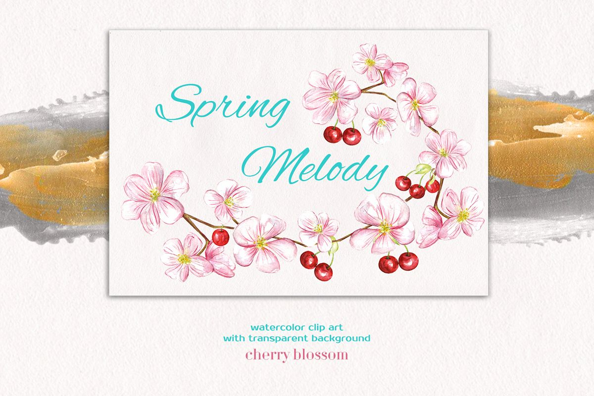 Spring Melody watercolor collection example image 1