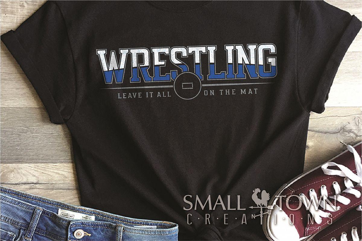 Wrestling, Headgear, Team, Sports, Logo, PRINT, CUT & DESIGN example image 1