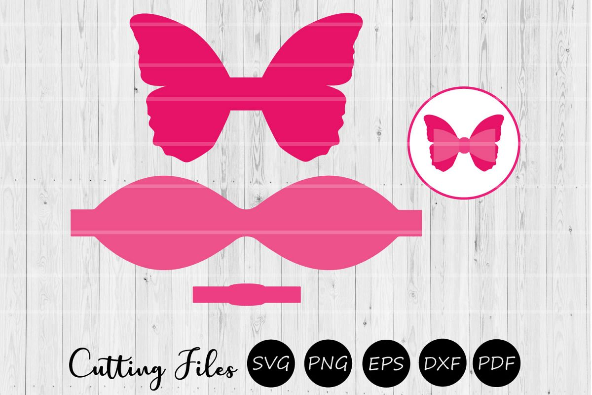 Butterfly Bow | Scalloped Bow | SVG Cut File | example image 1