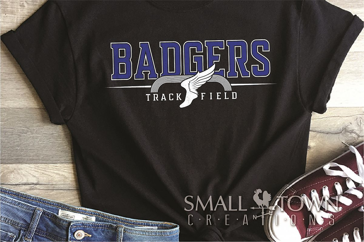 Badger, Badger Track ad Field, Sport, PRINT, CUT & DESIGN example image 1