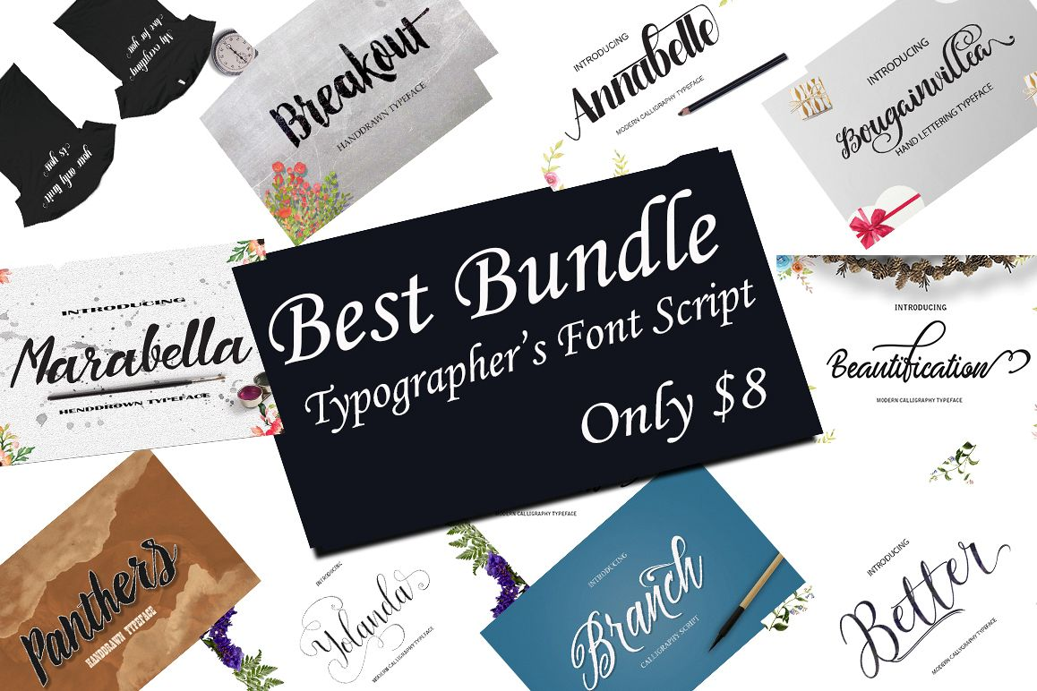 BEST FONTS BUNDLES example image 1