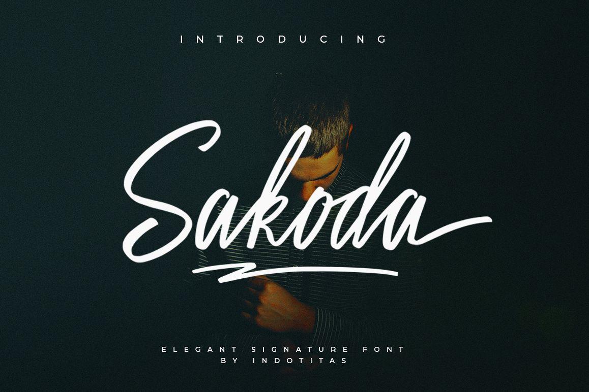 Sakoda Signature Font example image 1
