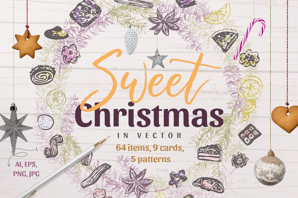 Sweet Christmas - vector example image 1