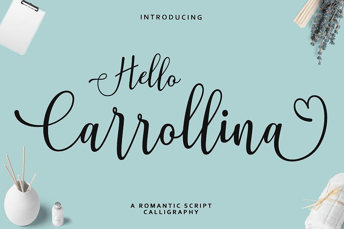Hello Carrollina Script example image 1