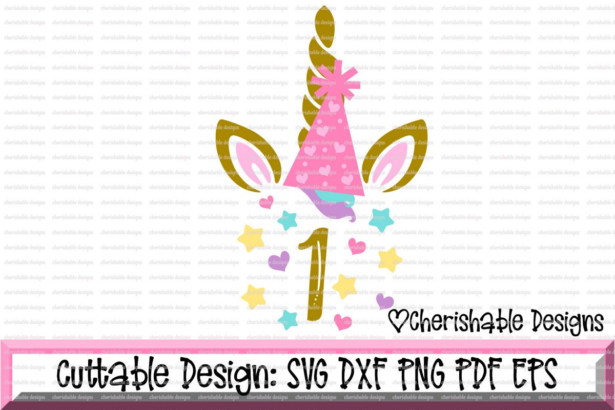 Unicorn Birthday Svg, Birthday SVG, First Birthday Svg, 1st Birthday Svg,  Unicorn svg cut file, svg pattern, Cricut instant download