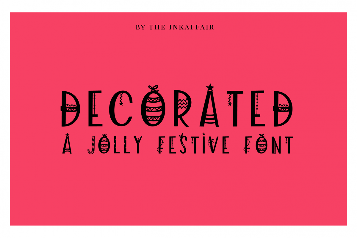Decorated - a jolly christmas font example image 1