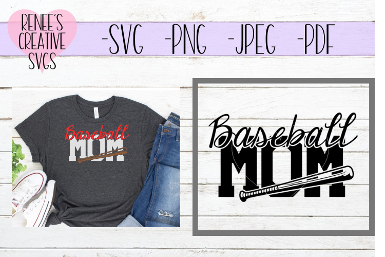 Baseball Mom | Sports | SVG Cutting File example image 1