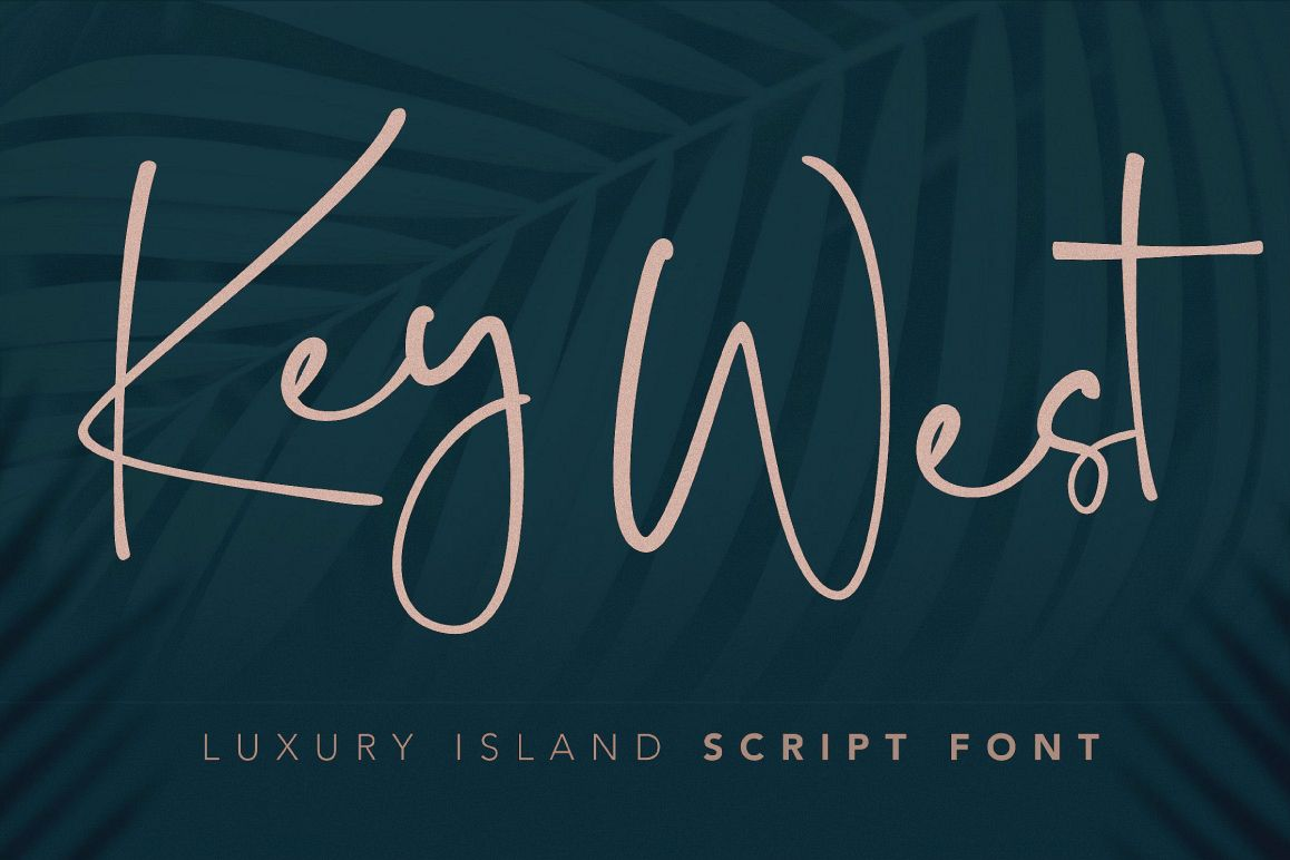 Key West Script Font with Extra example image 1