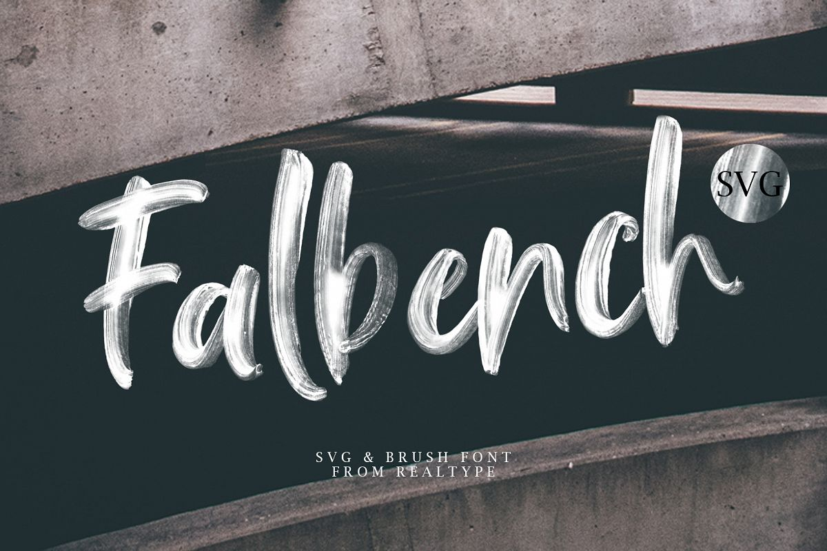 Falbench SVG & Brush Font example image 1