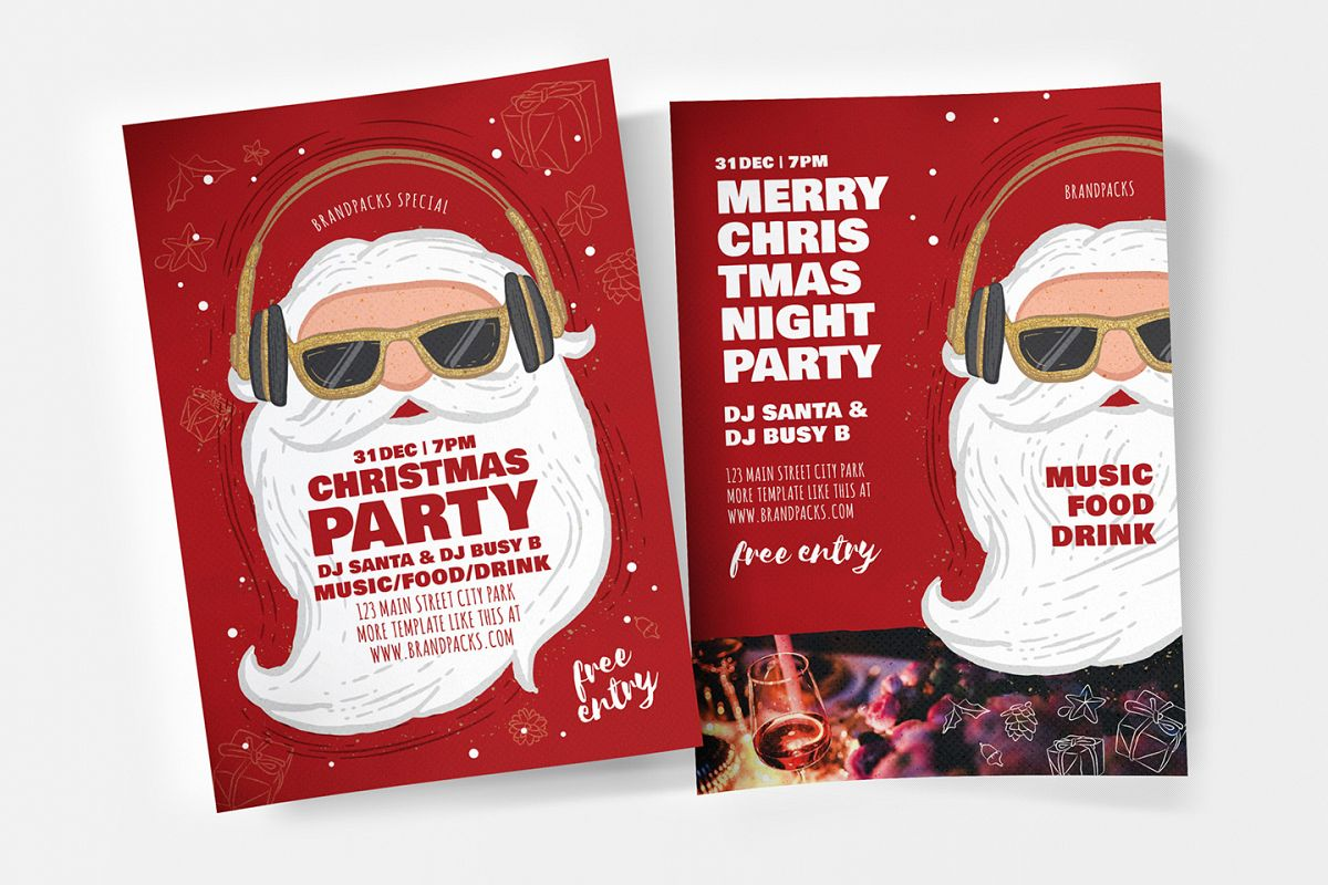Christmas Party Flyer.Christmas Party Flyer Poster