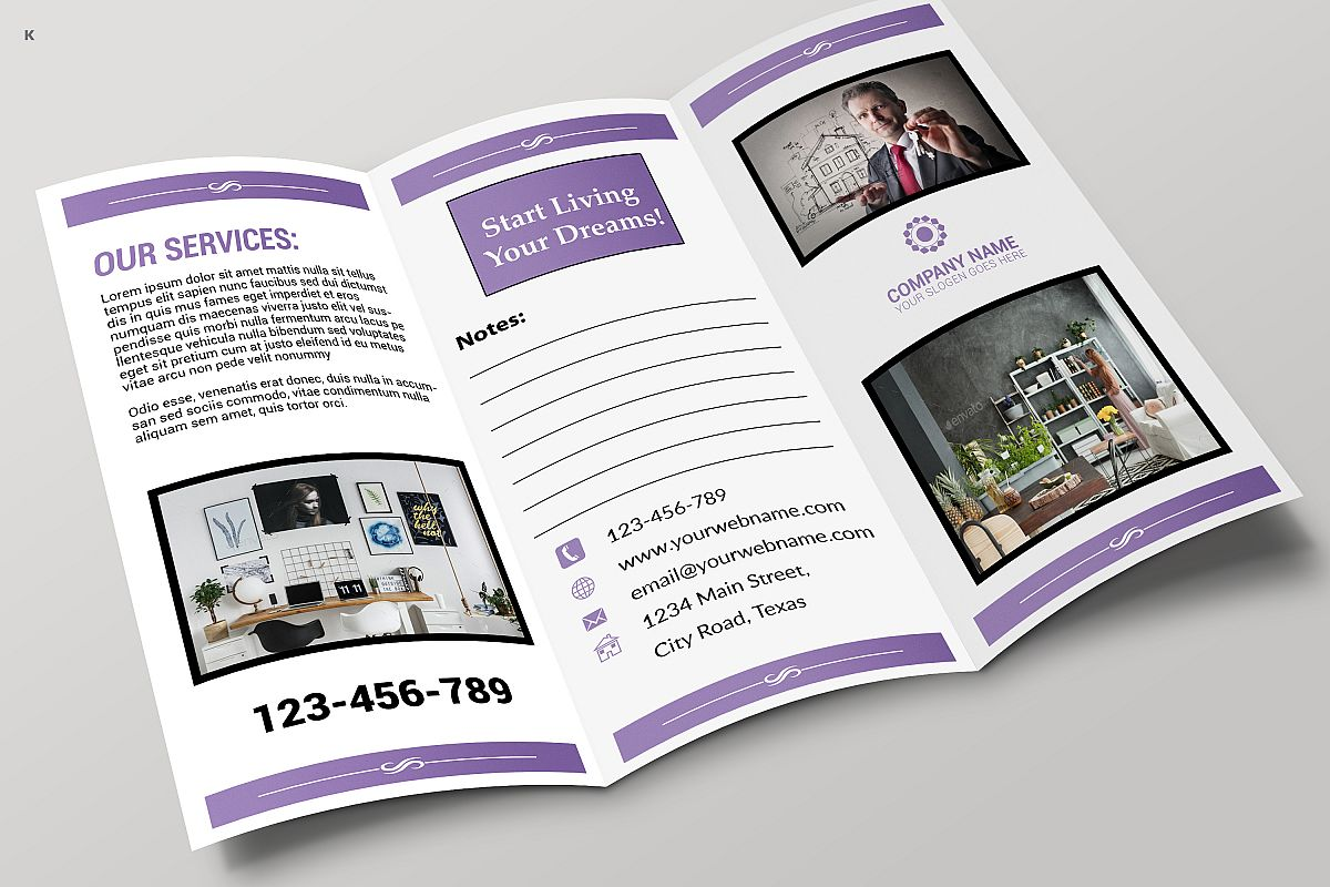 Real Estate Trifold example image 1