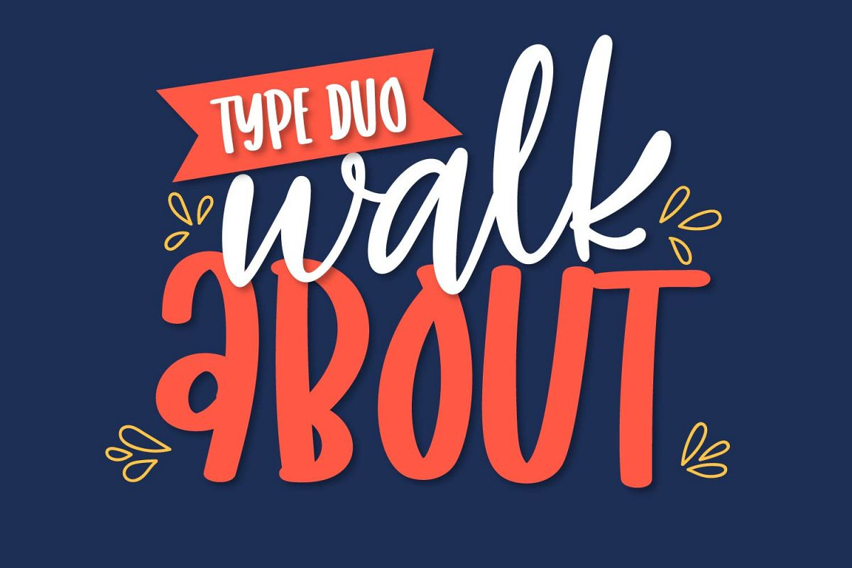 Walkabout - A Type Duo Scripts & Sans Serif example image 1