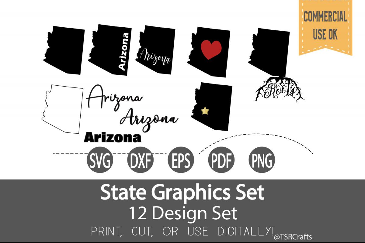 Arizona State Graphics Set - Clip Art and Digital Cut files example image 1