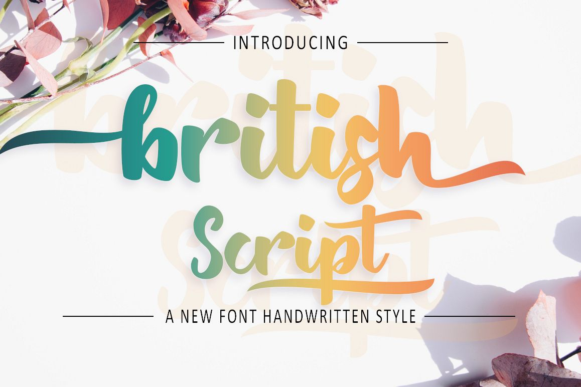 British Script - Handmade Brush example image 1