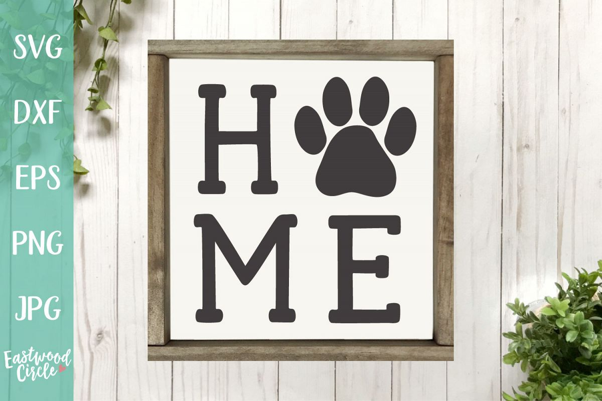 Dog Home with Paw Print - A Dog SVG File for Crafters example image 1