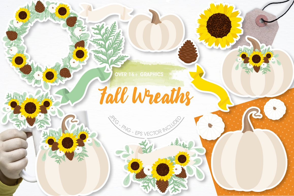 Fall Wreaths graphics and illustrations example image 1