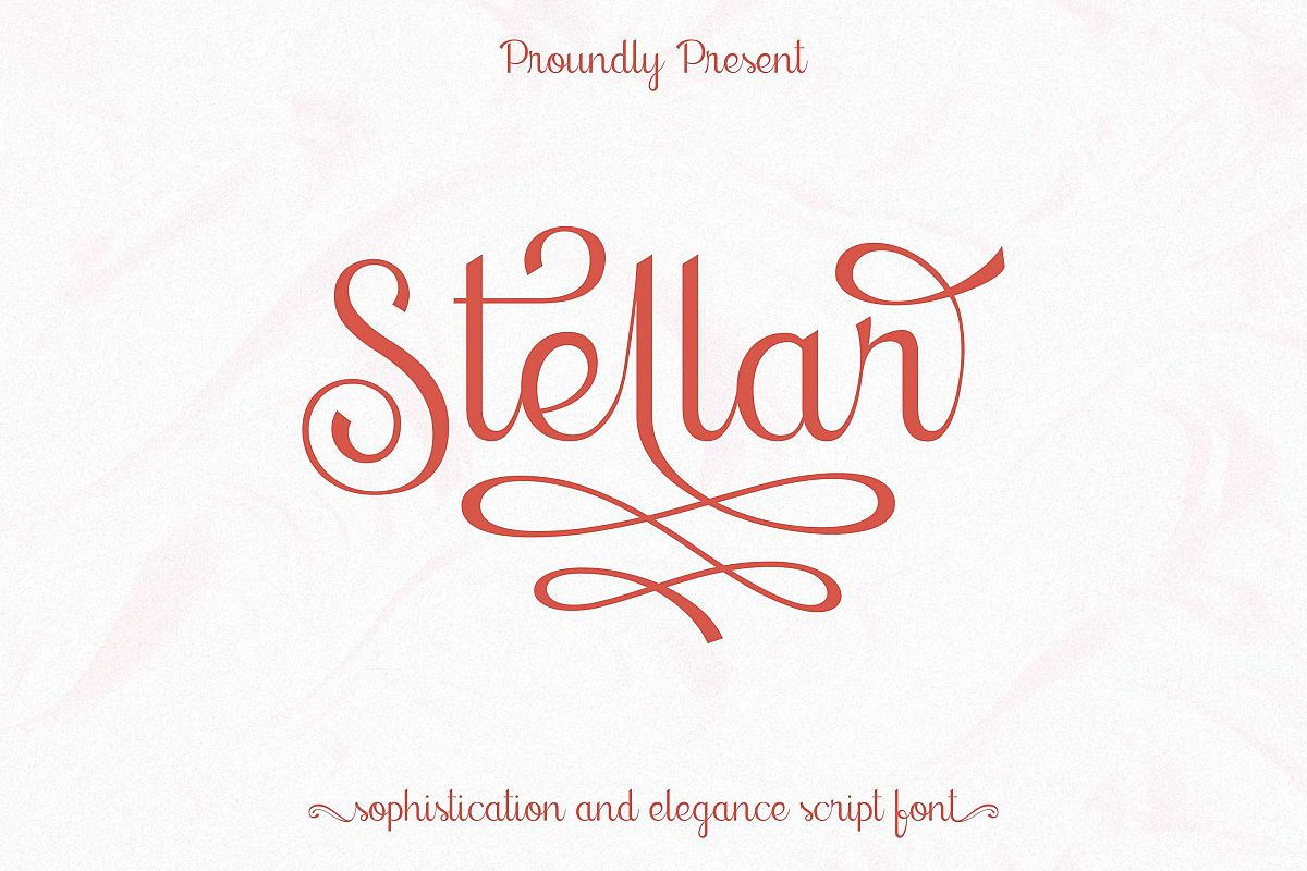 stellar - sophisticated script font example image 1