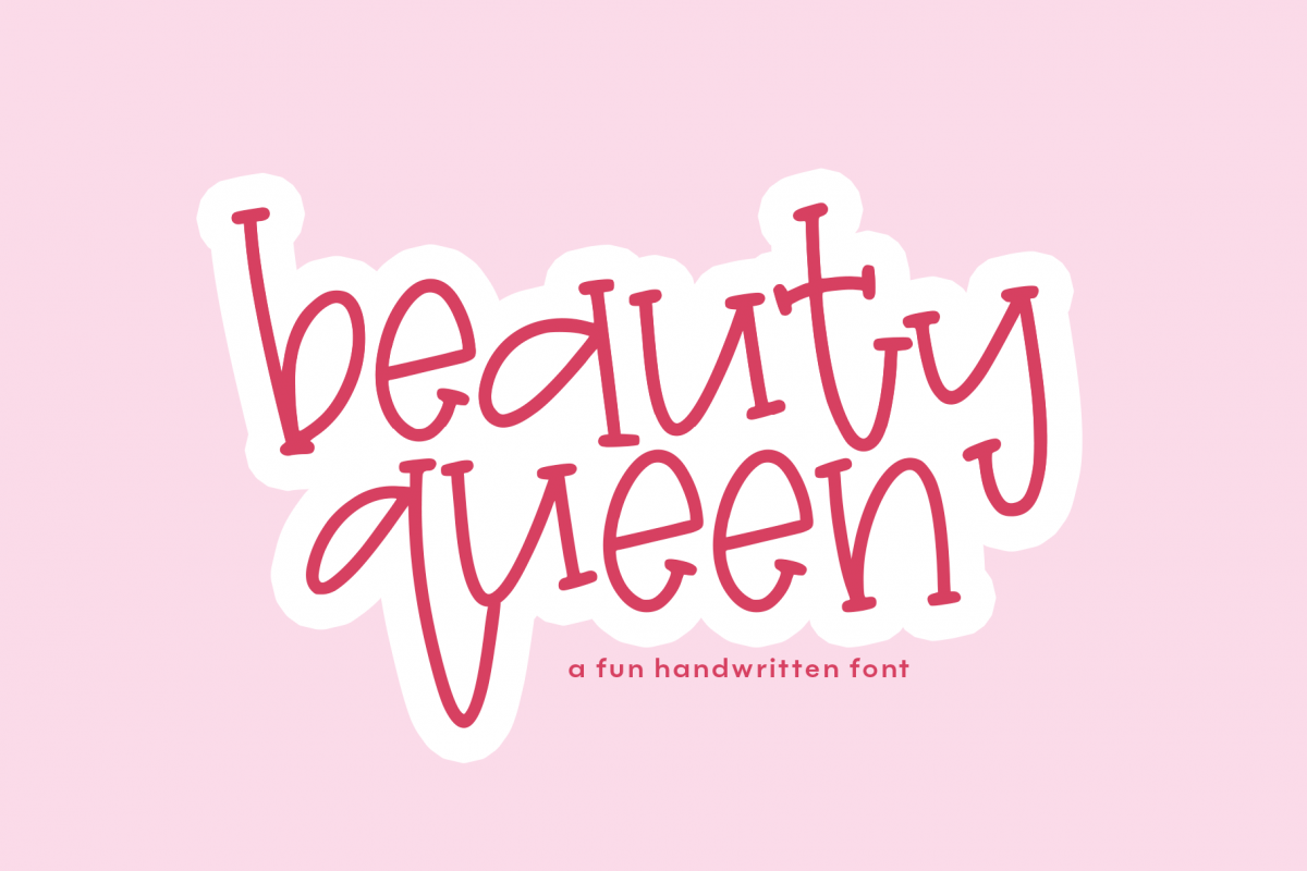 Beauty Queen - A Quirky Handwritten Font example image 1