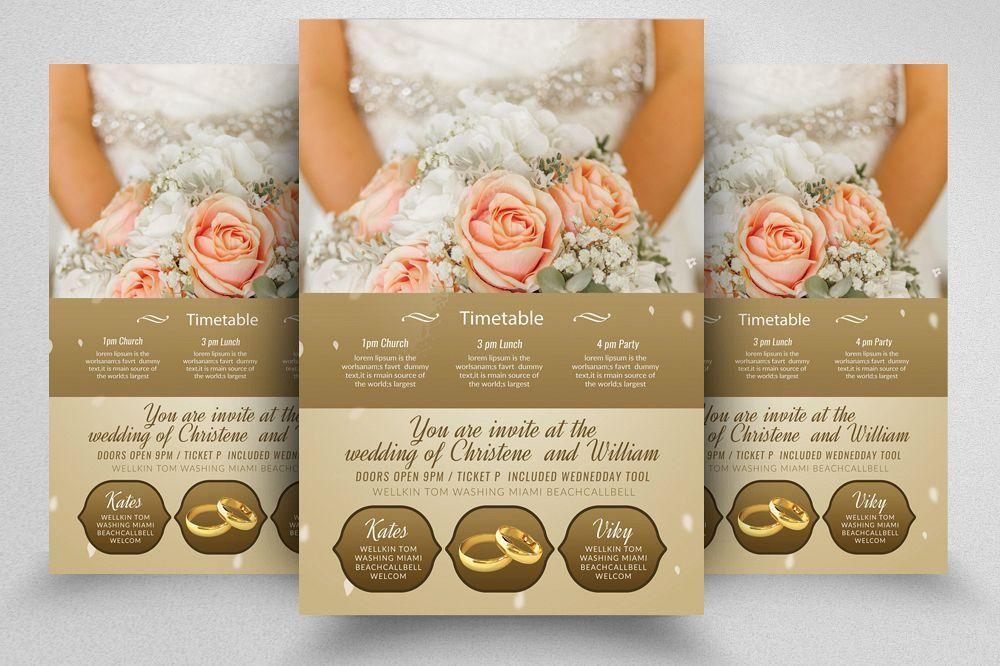 Wedding Invitation Flyer Template example image 1