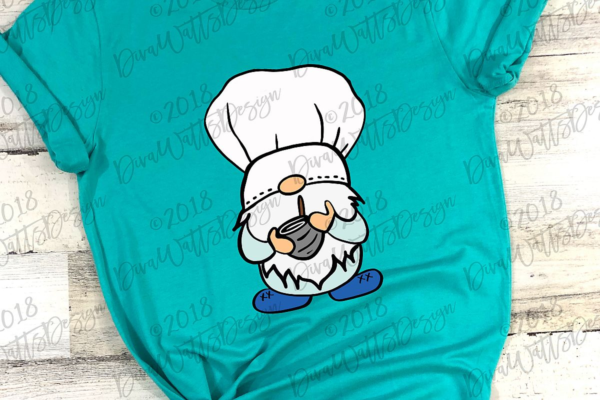 Chef Gnome Cutting File Farmhouse Rustic Style Kitchen example image 1