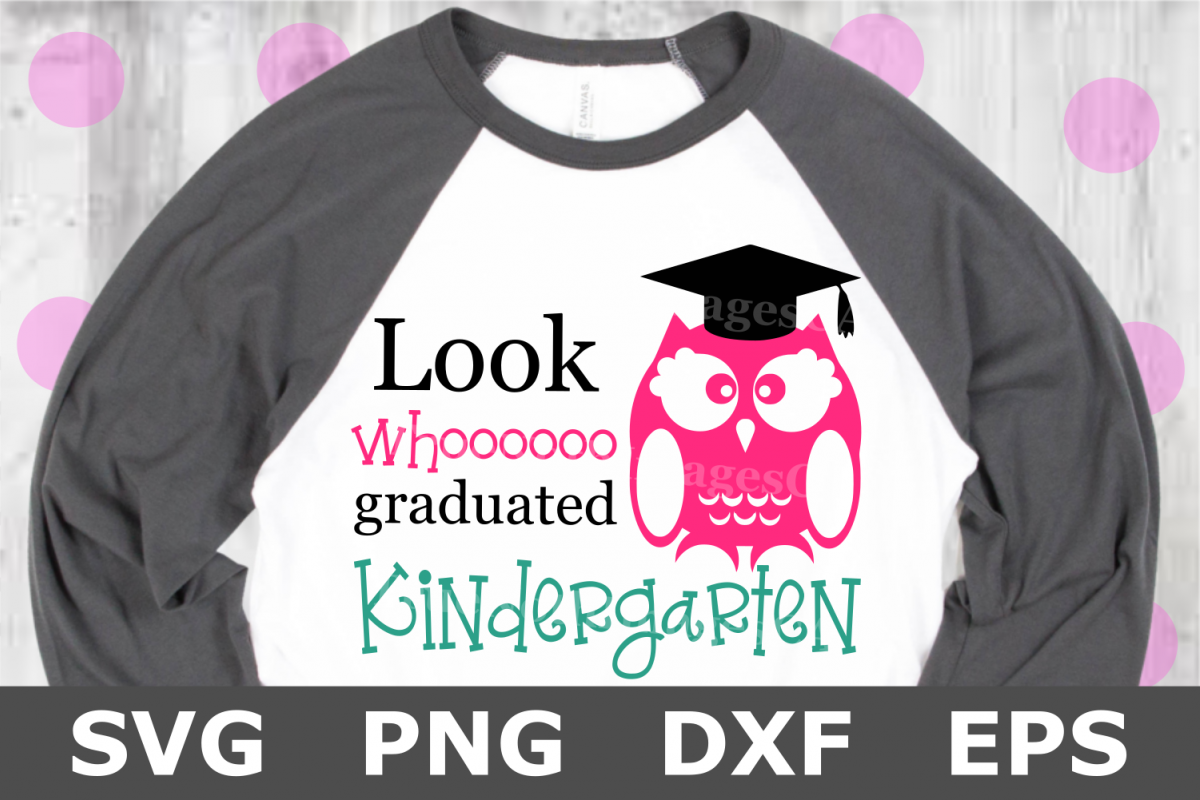 Whooo Graduated Kindergarten - A School SVG Cut File example image 1