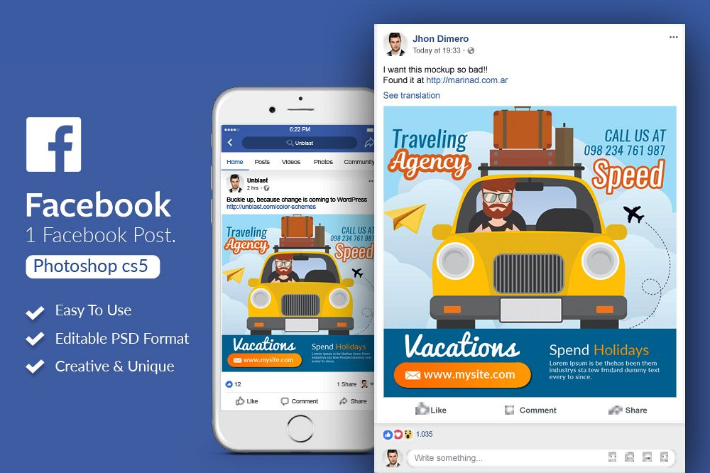 Tour & Traveling Agency Facebook Post example image 1