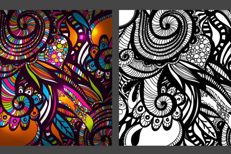 2 Zentangle Inspired patterns. example image 1