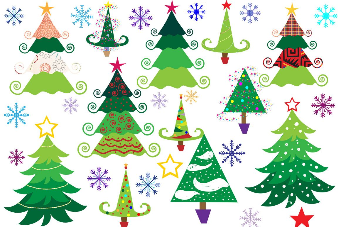 Christmas Tree Clipart example image 1