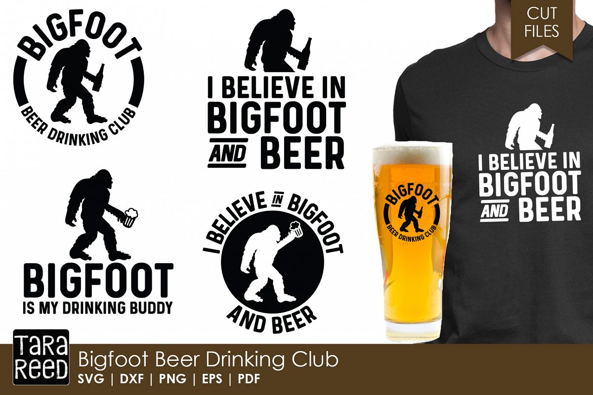Bigfoot Beer Drinking Club - Bigfoot SVG and Cut Files example image 1