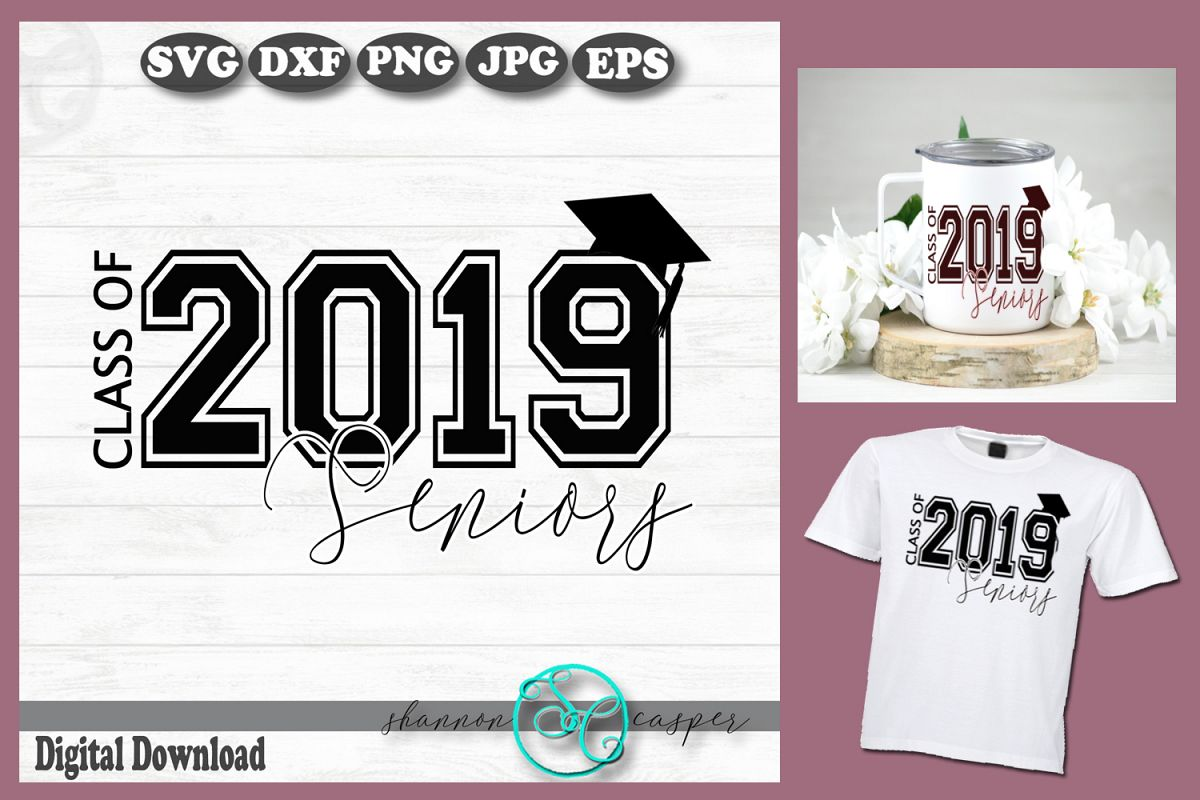 Graduation Senior 2019 SVG example image 1