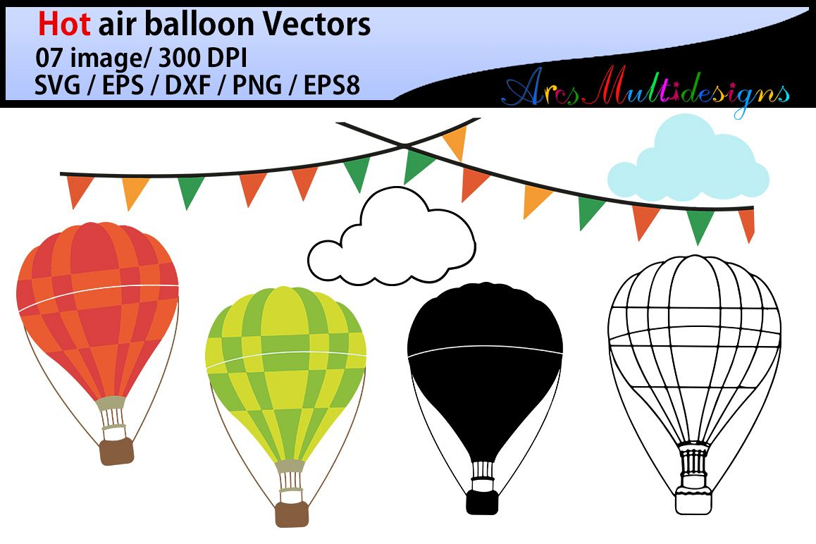 Hot Air Balloon Svg Clipart Hot Air Balloons Clipart Vector Hot Air