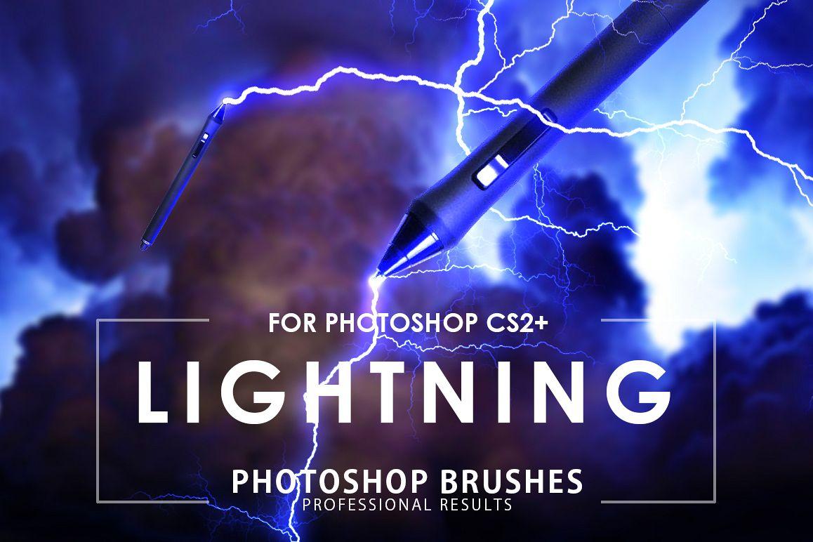 Lightning Photoshop Brushes example image 1