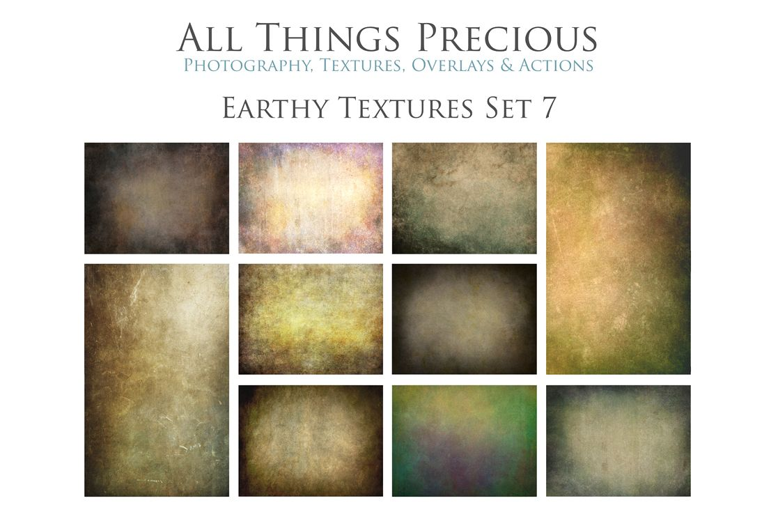 10 Fine Art Earthy Textures SET 7 example image 1