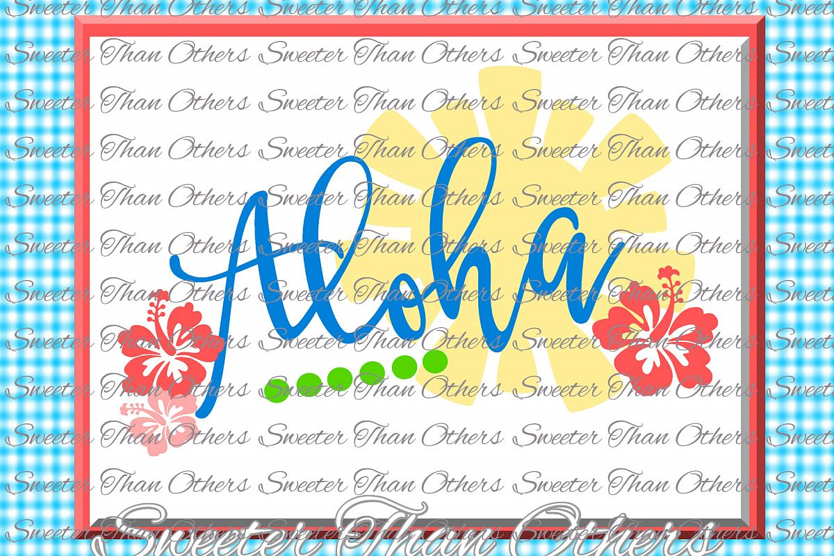Aloha Svg Beach Bound svg, Summer Beach pattern example image 1