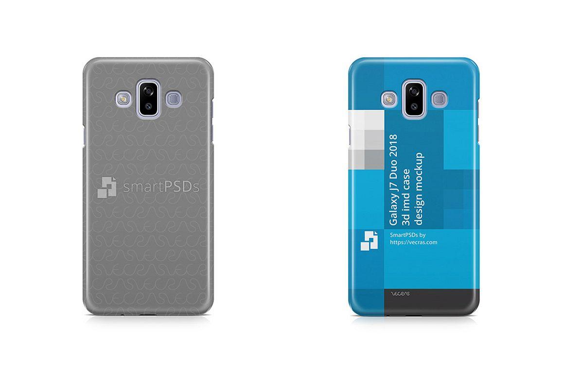 pretty nice 51359 f0f12 Samsung Galaxy J7 Duo 3d IMD Case Design Mockup 2018