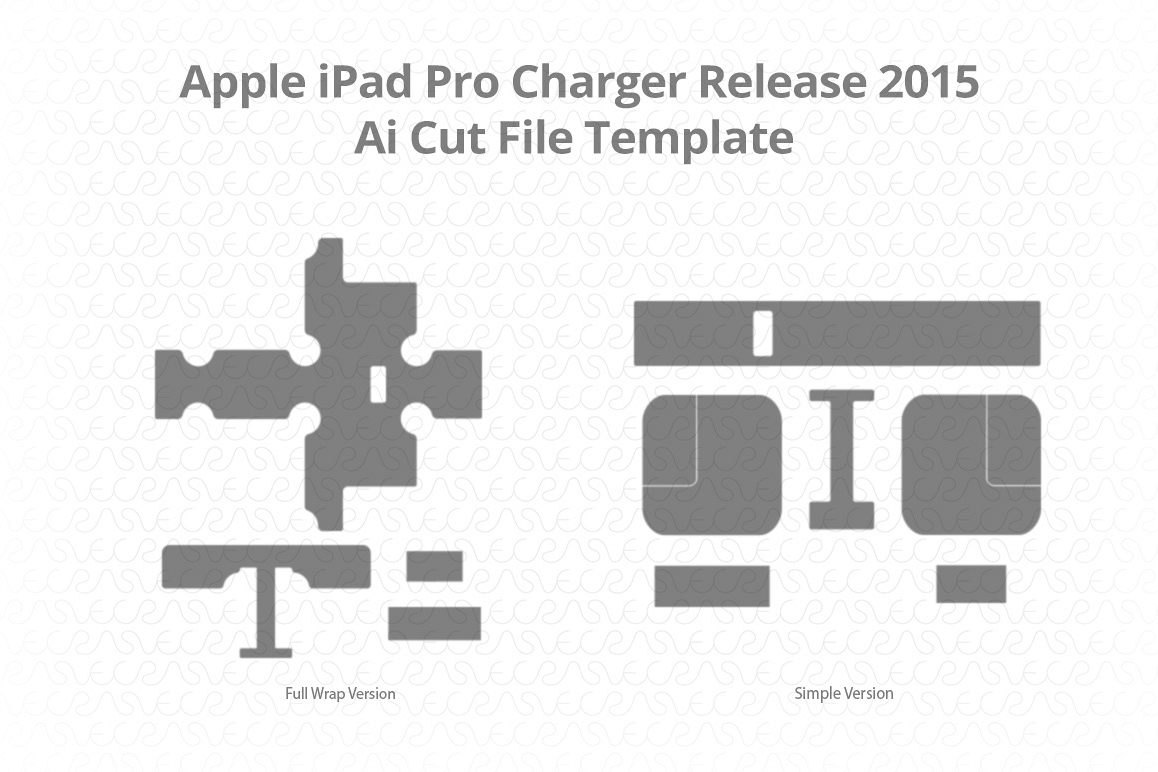 Apple iPad Pro Charger Vinyl Skin Vector Cut File Template  example image 1