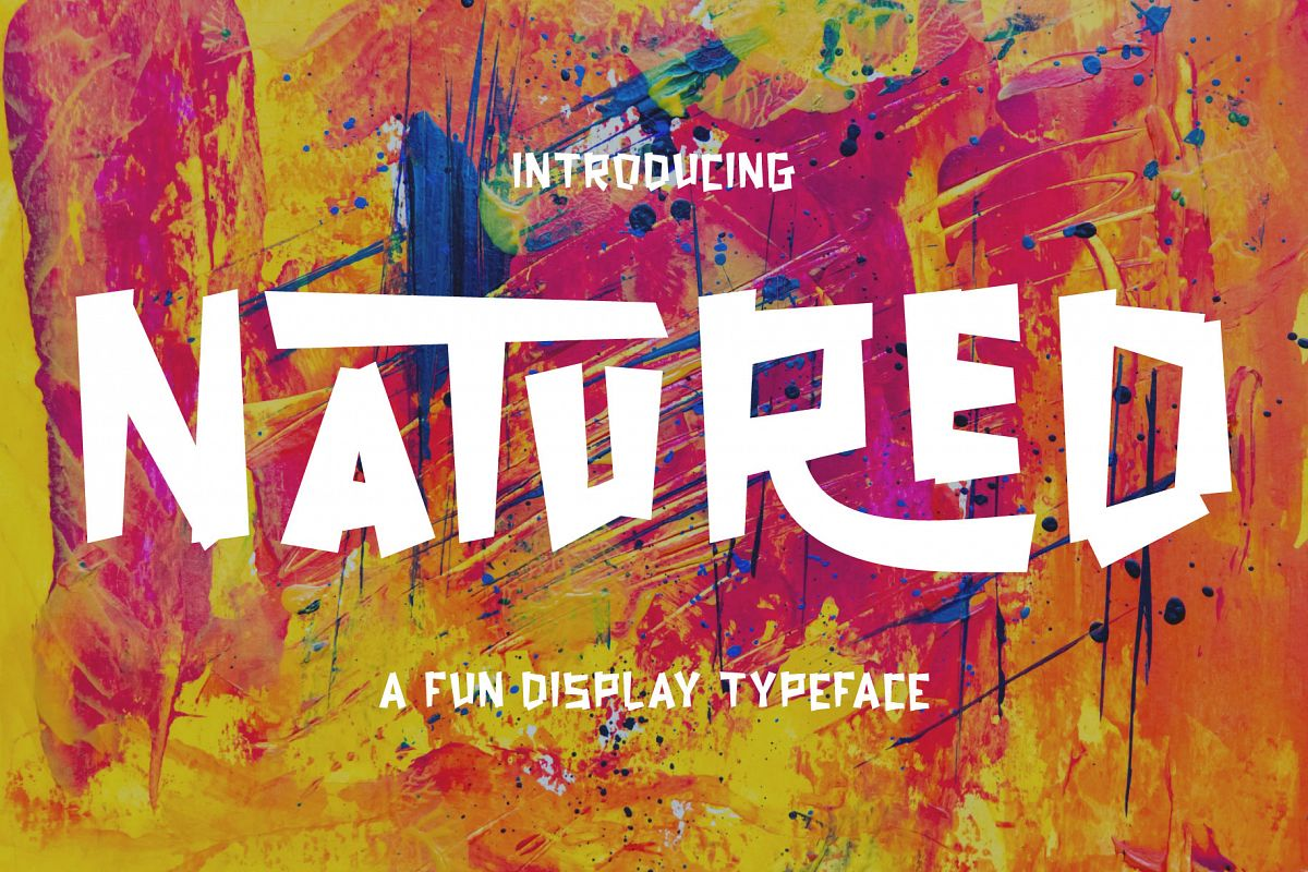 Natured - Modern and Fun Typeface example image 1