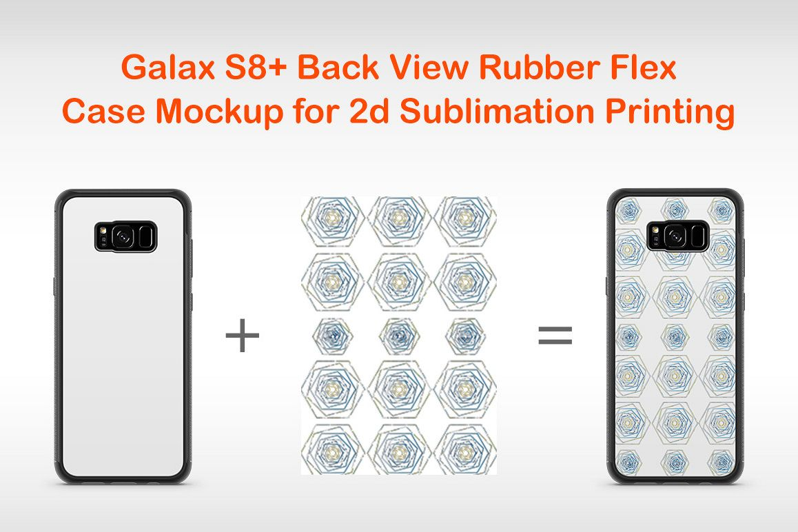 Galaxy S8 2d Rubber Flex Case Design Mockup Back example image 1