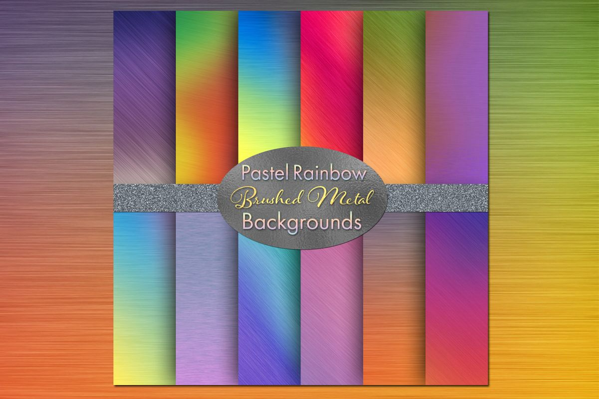 Pastel Rainbow Brushed Metal-Style Backgrounds example image 1