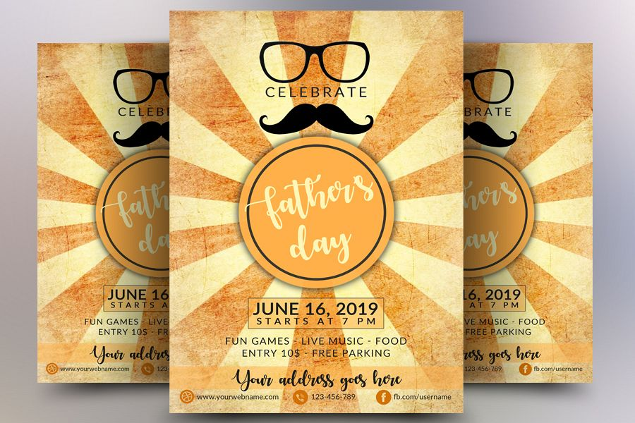 Fathers day celebrations flyer example image 1