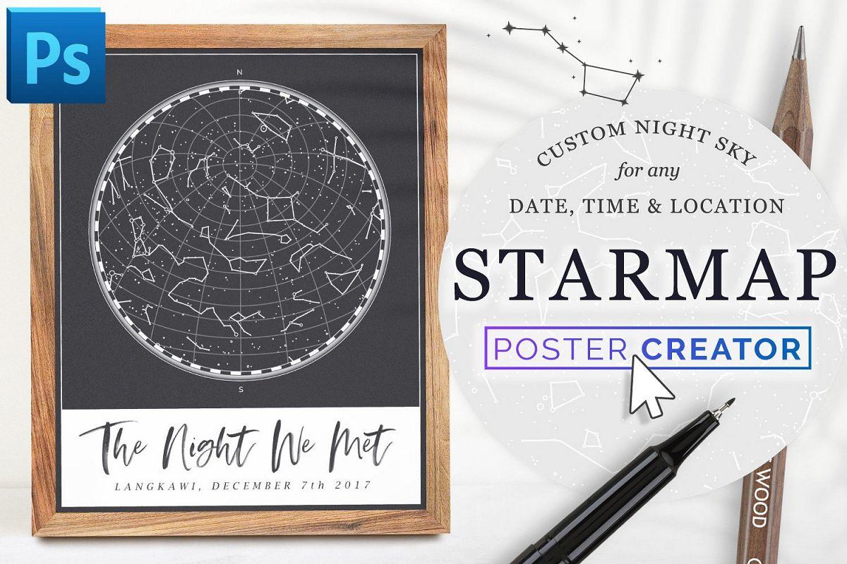 Custom StarMap Poster Creator for Photoshop example image 1