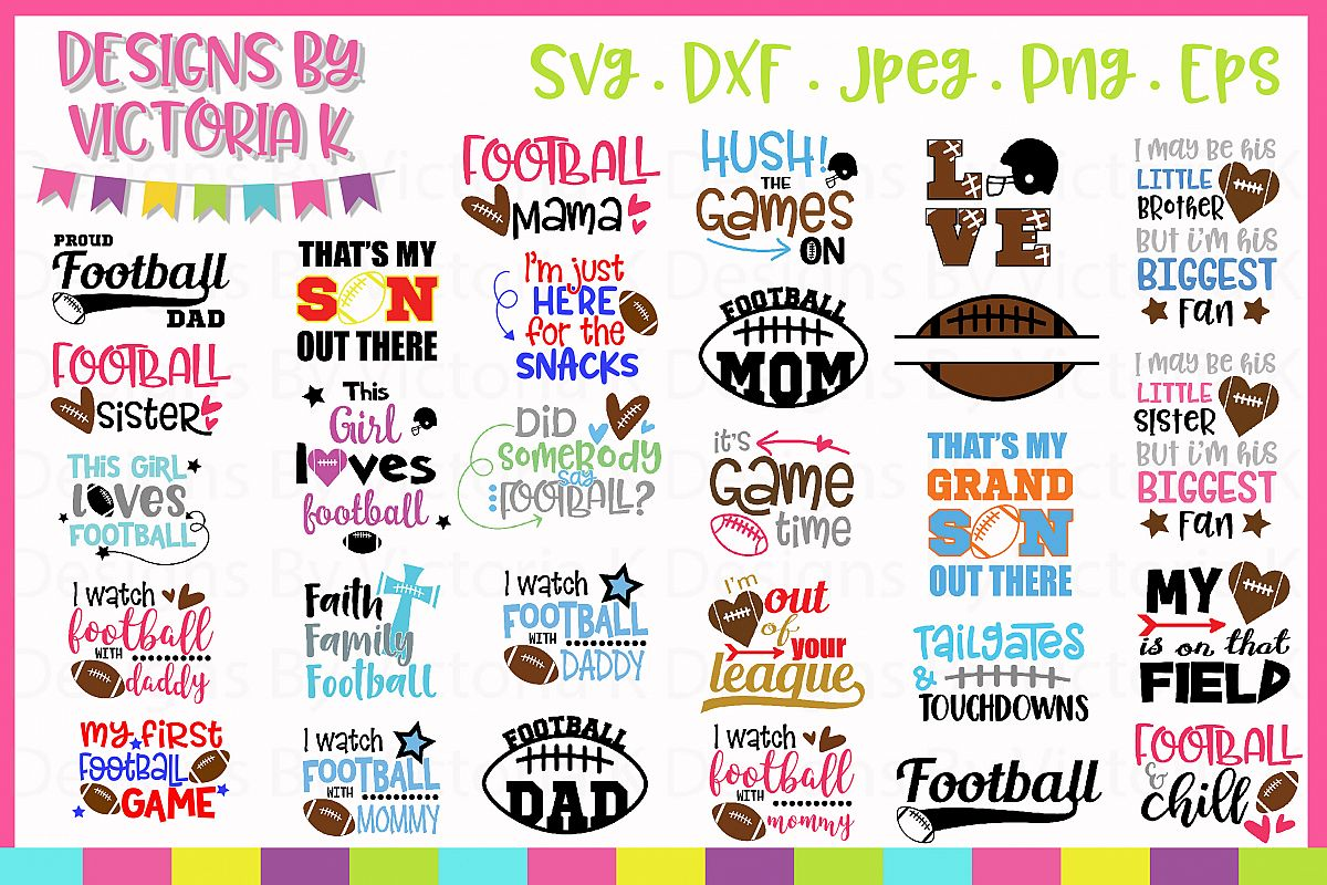 Football Bundle, American Football SVG Cut Files example image 1
