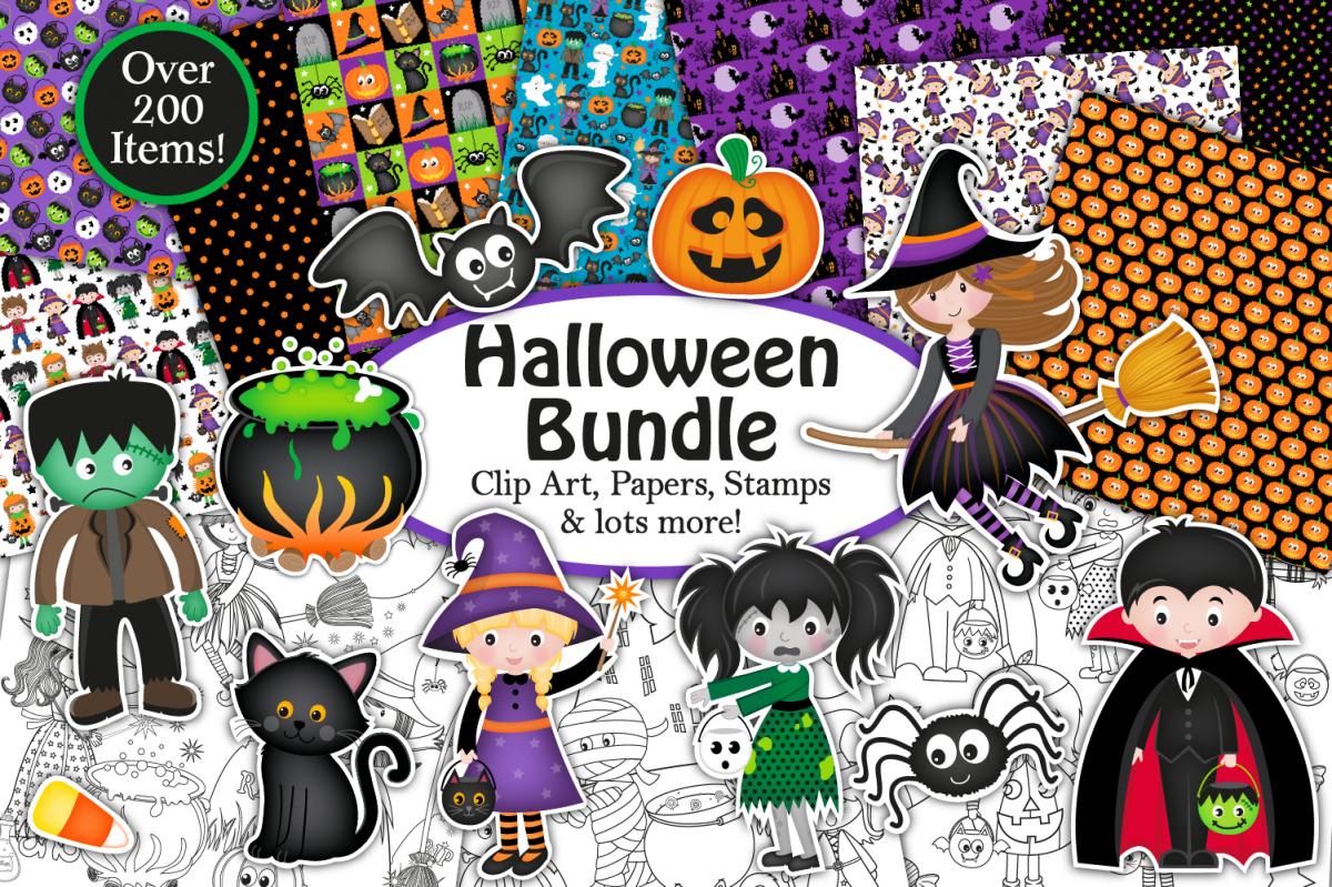 Halloween bundle, Halloween graphics & Illustrations example image 1