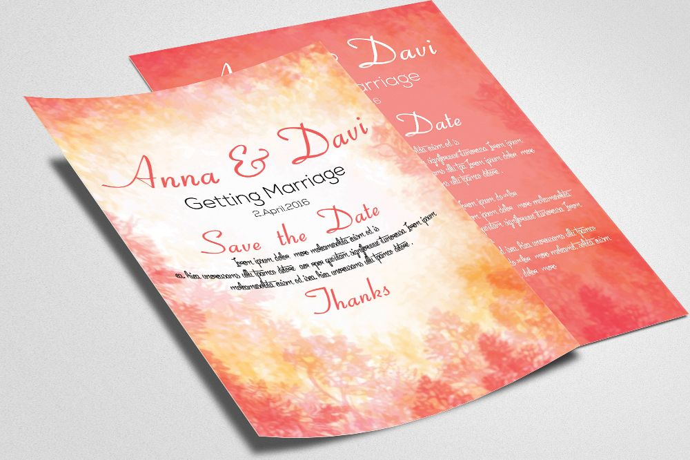 Double sided Invitation Cards example image 1