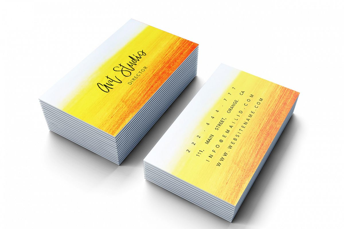 Beautiful bright colours business card example image 1