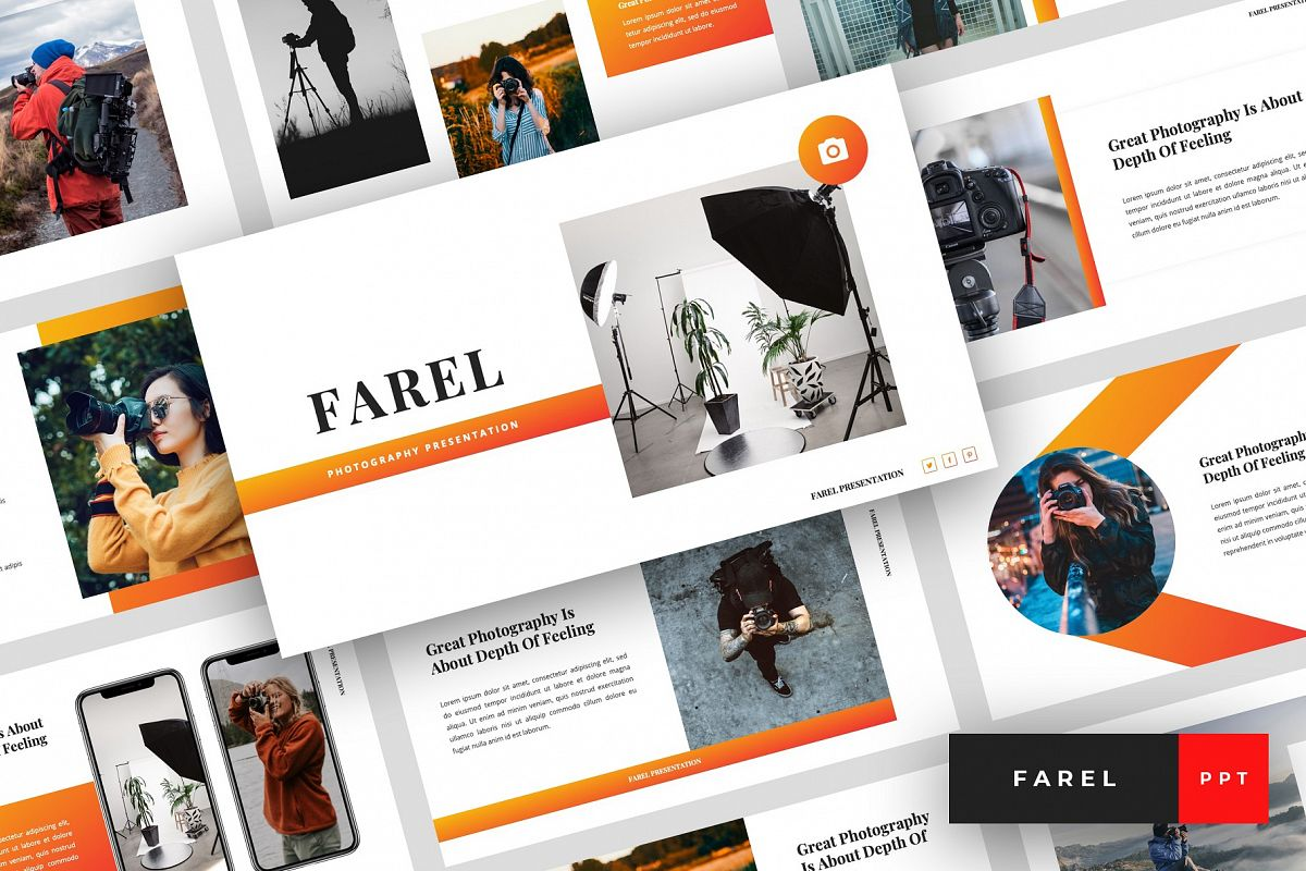 Farel - Photography PowerPoint Template example image 1